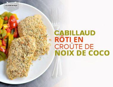 Cabillaud rôti en croute de noix de coco et graines de chanvre