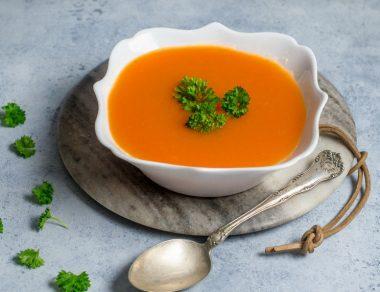 Soupe carotte gingembre au curcuma anti-Inflammatoire