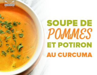 Soupe de pommes et de potiron aromatisée au curcuma