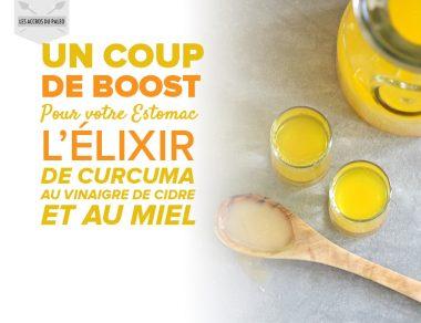 Un coup de boost pour votre estomac: l'élixir de Curcuma au Vinaigre de Cidre et au miel