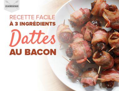 Bouchées de dattes au bacon faciles à réaliser avec seulement 3 ingrédients