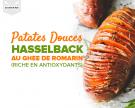 Patates douces à la Hasselback au ghee de romarin (riche en antioxydants)