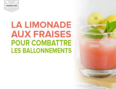 Limonade aux fraises pour combattre les ballonnements