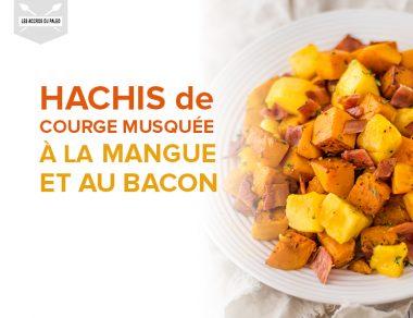 Hachis de courge musquée à la mangue et au bacon