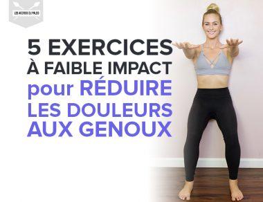 5 exercices à faible impact pour réduire les douleurs aux genoux