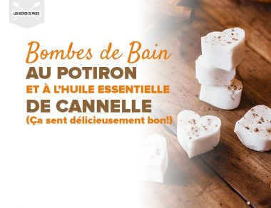 Bombes de bain effervescentes au potiron et à l'huile essentielle de cannelle (Ça sent délicieusement bon !)