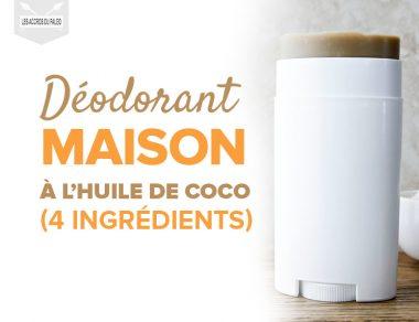 Déodorant maison à l'huile de coco (seulement 4 ingrédients)