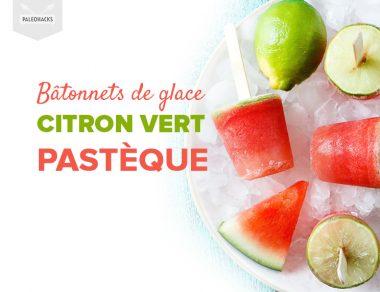 Bâtonnets de glace citron vert – pastèque