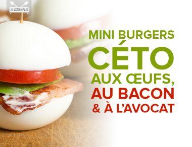 Mini burger céto aux œufs, au bacon et à l'avocat
